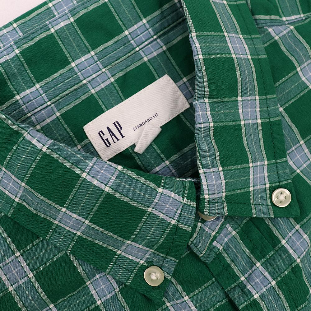Green plaid 'standard fit' button down shirt