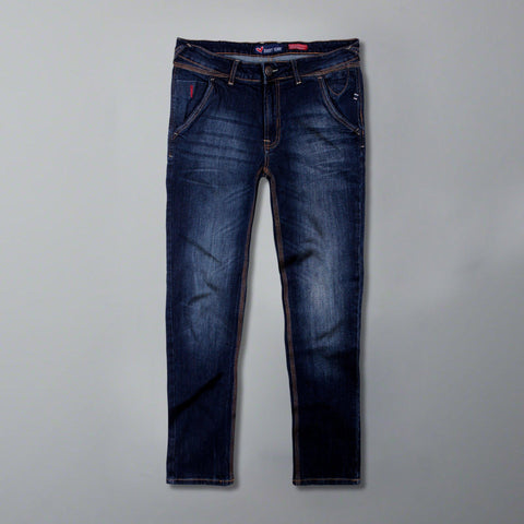 SWEET YEARS-blue 'slim fit' stretch cross pocket jeans
