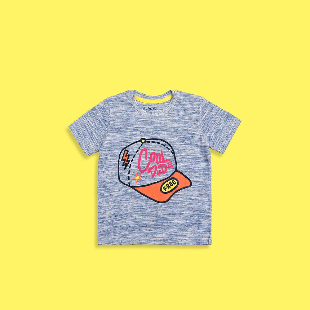 Boys cool dude textured graphic t-shirt (2211)