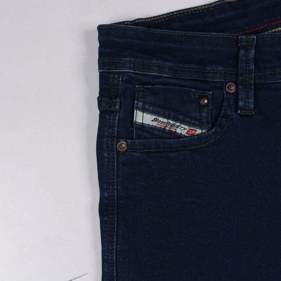 DIESEL-montes dark blue 'slim fit' stretch low rise jeans