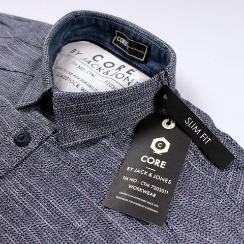JACK & JONES-exclusive 'slim fit' grey designer shirt