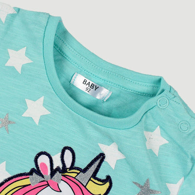 PEPCO-baby girl turquoise magical friend t-shirt