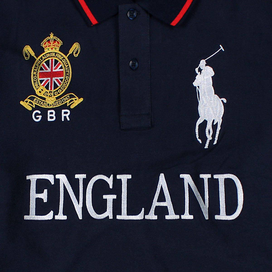 RALPH LAUREN-exclusive big pony gbr 'slim fit' embroidered polo