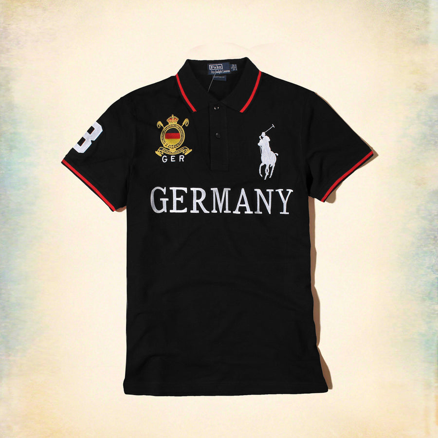 RALPH LAUREN-exclusive big pony ger 'slim fit' embroidered polo