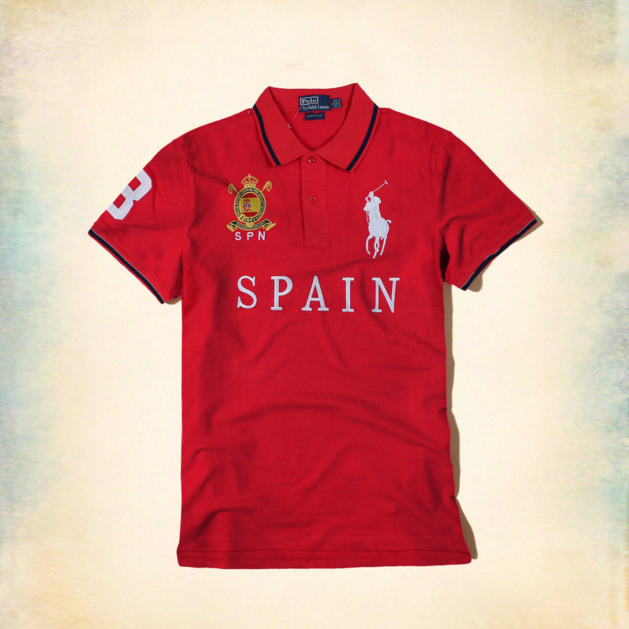 RALPH LAUREN-exclusive big pony spain 'slim fit' embroidered polo