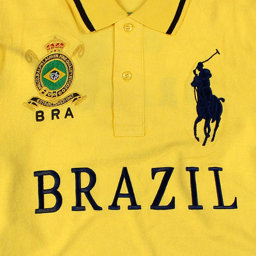 RALPH LAUREN-exclusive big pony brazil 'slim fit' embroidered polo