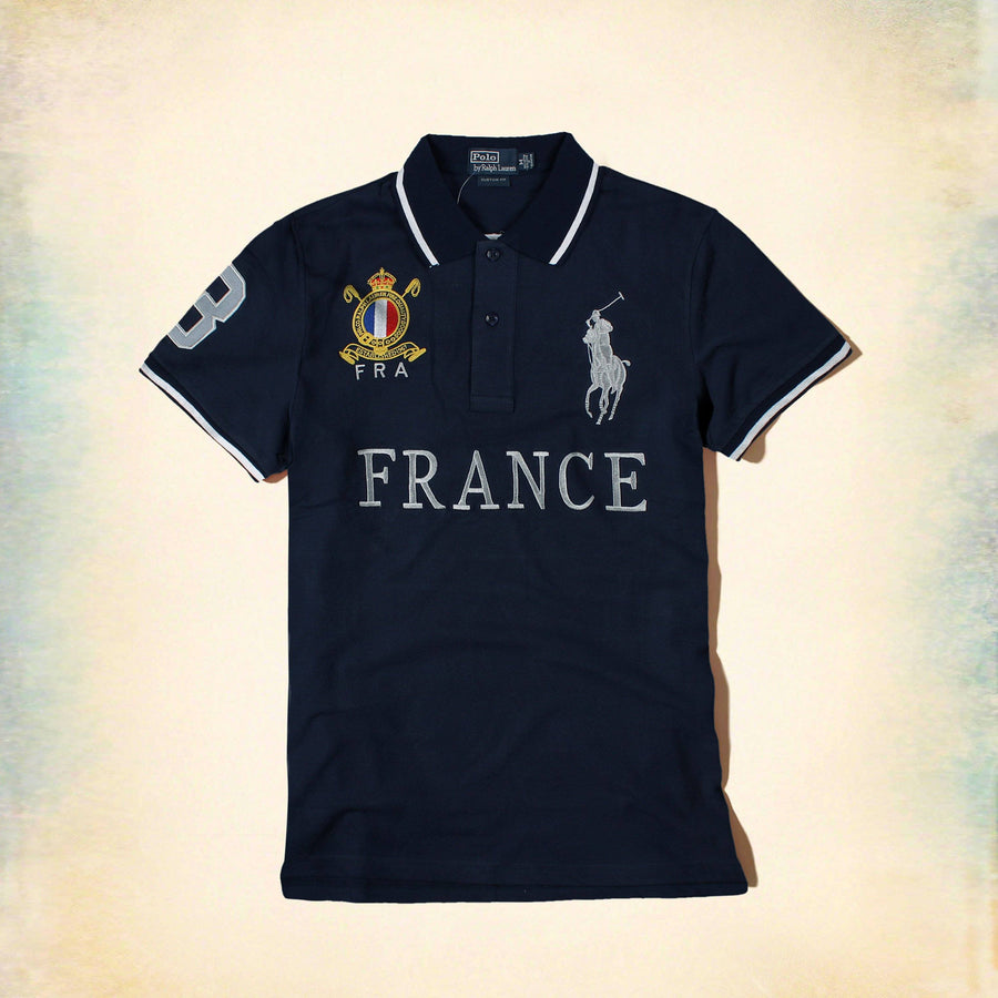 RALPH LAUREN-exclusive big pony france 'slim fit' embroidered polo