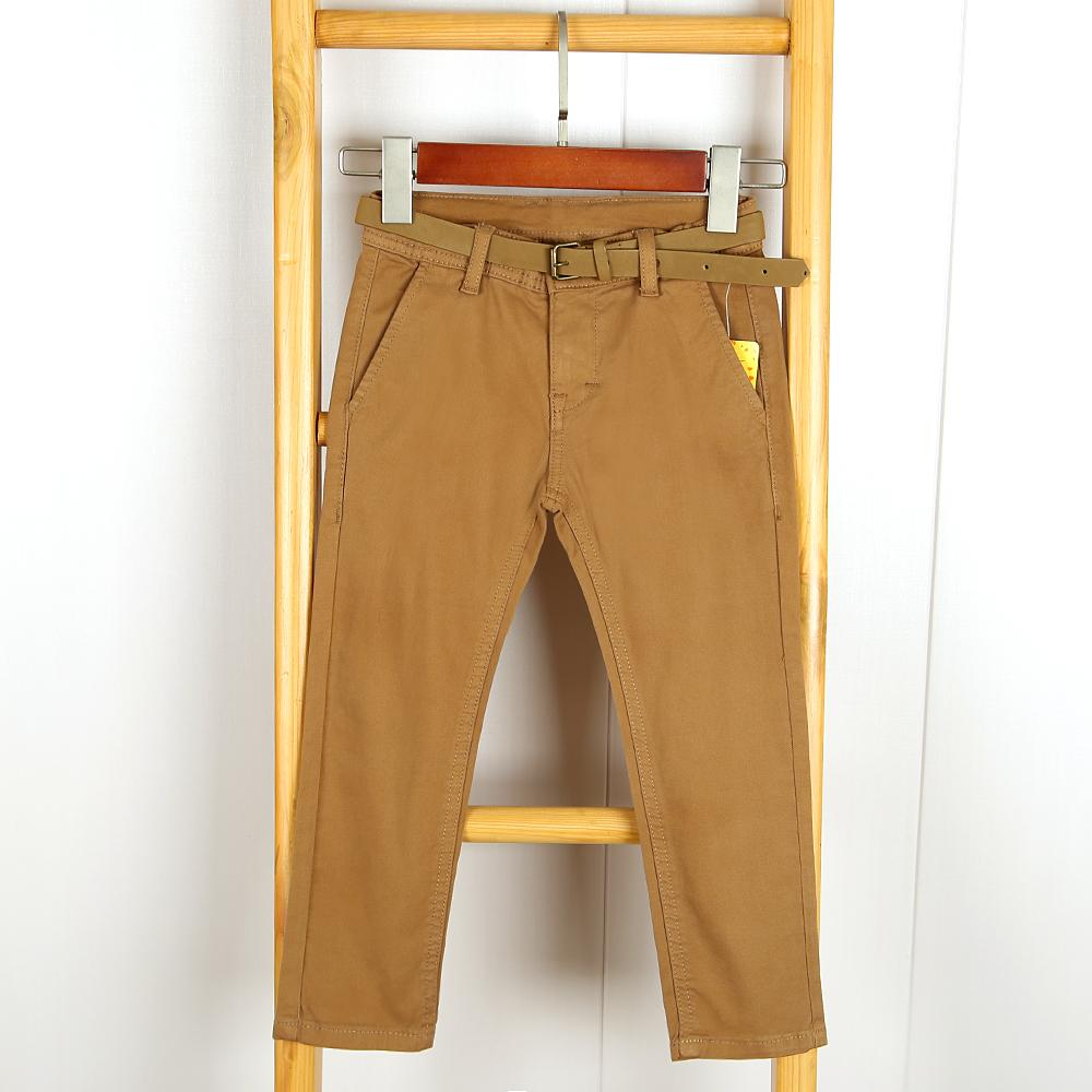 Boys Slim Fit Twill Cotton Chino With Belt (21178)