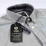 JACK & JONES-exclusive 'slim fit' button down grey designer shirt