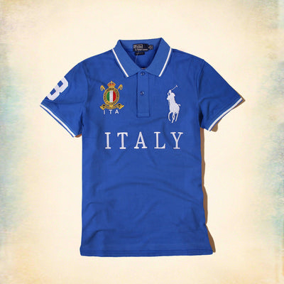 RALPH LAUREN-exclusive big pony italy 'slim fit' embroidered polo