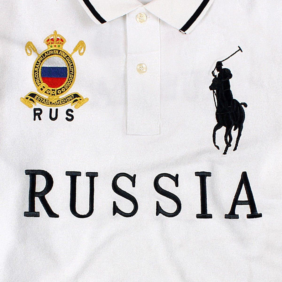 RALPH LAUREN-exclusive big pony russia 'slim fit' embroidered polo
