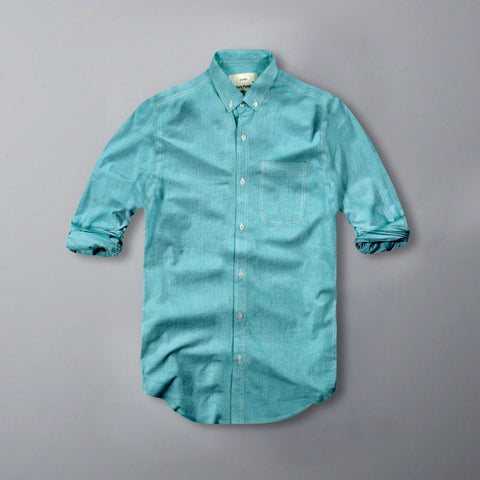 MARC FENDI-oxford chambray button down shirt