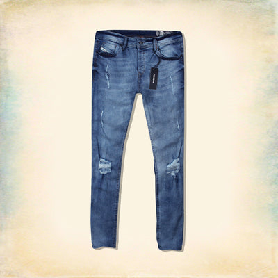 DIESEL-exclusive lanzo 'slim skinny' ultra stretch repaired jeans