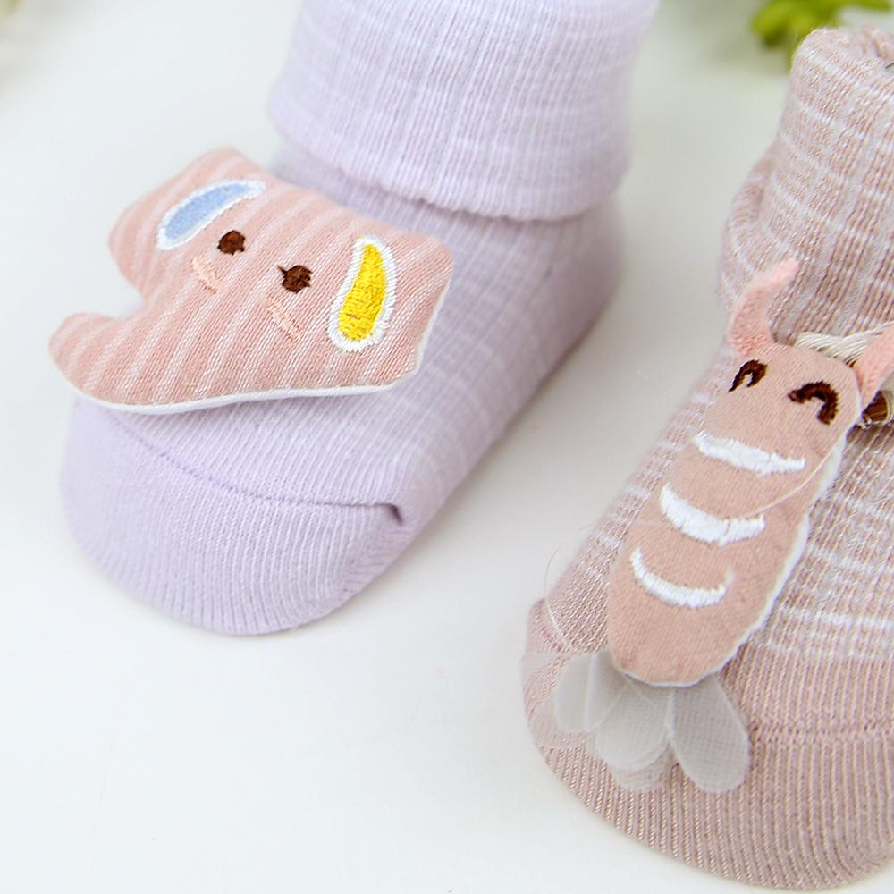Pack of 2 Gift Pack Baby Imported Cartoon Socks For 0-6 Months (41030)