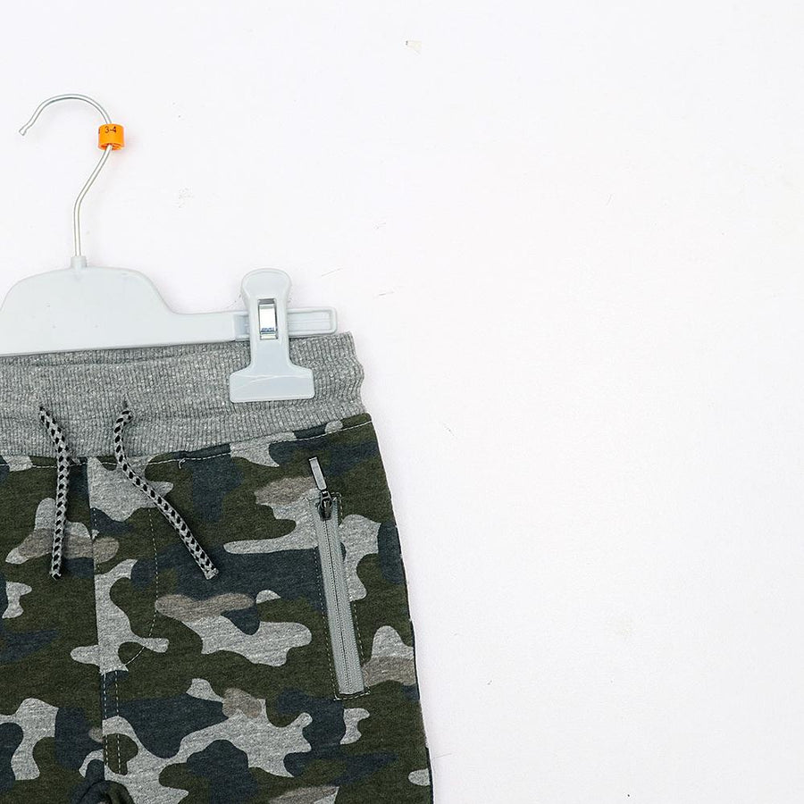 Tex boys camo print slim fit jogger trouser (1195)