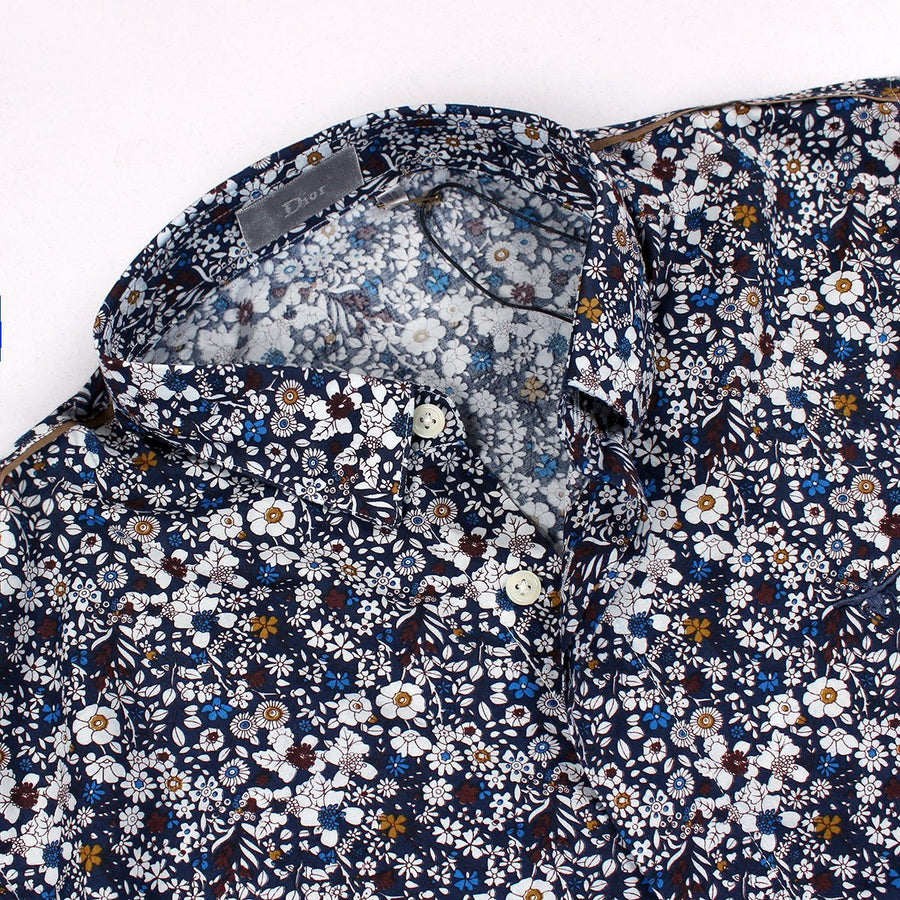DIOR-all over flower print 'slim fit' shirt (DI284)