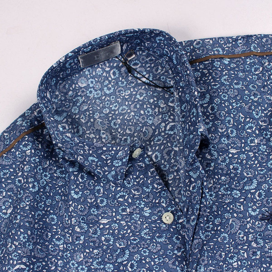 DIOR-all over flower print 'slim fit' shirt (DI282)