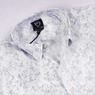 ALEXANDER MCQUEEN-white all over printed 'button down' shirt