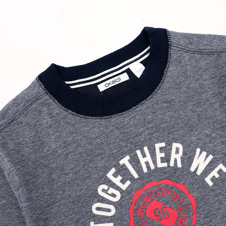 Okd boys together printed sweatshirt (1202)