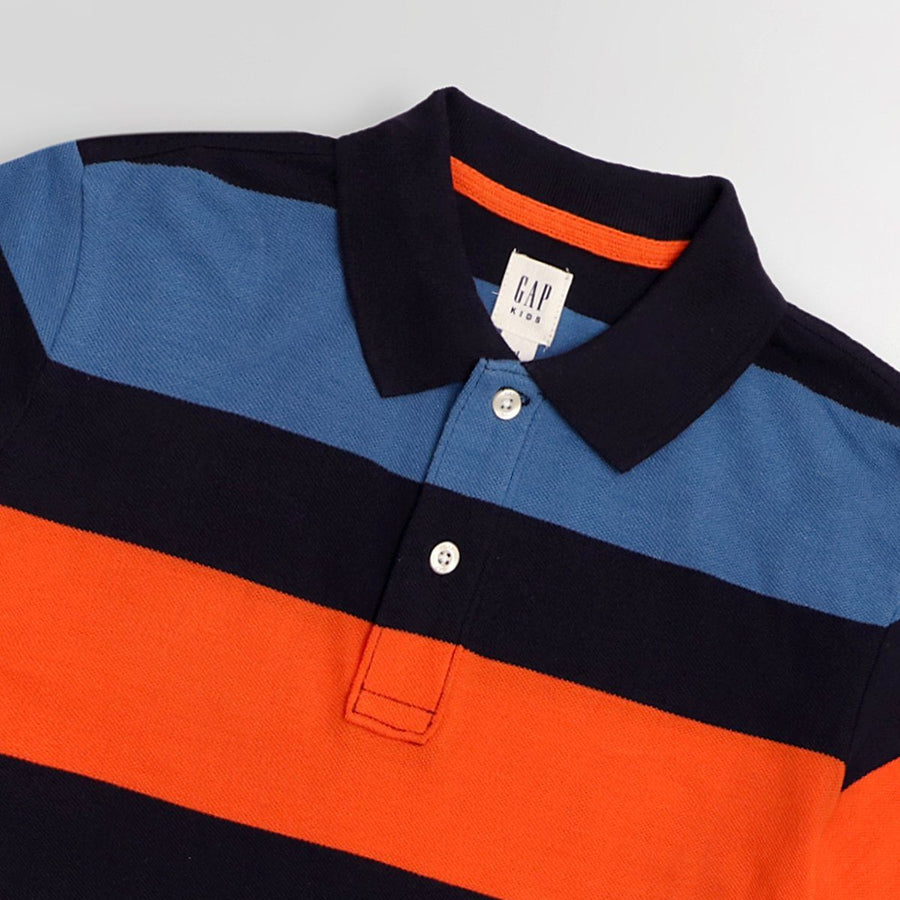 Exclusive boys multi stripe polo (916)