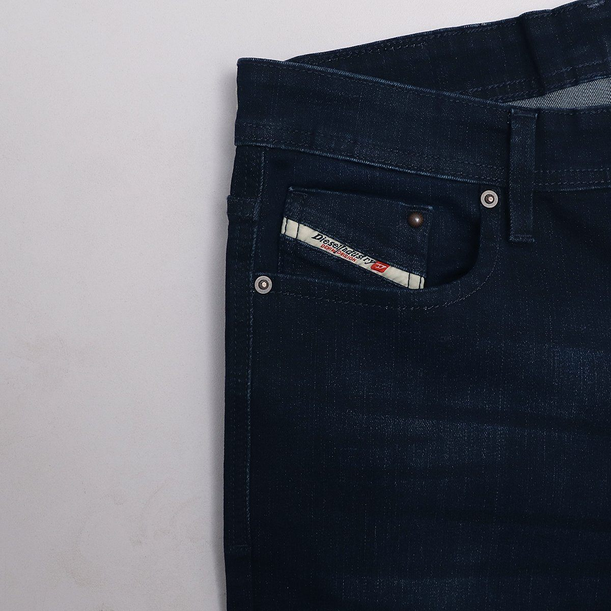 Exclusive navy matteo 'slim fit' stretch jeans