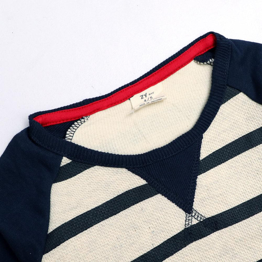 Zy boys raglan sleeve striped sweatshirt (1215)