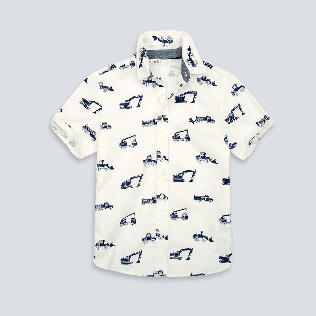 Imported Boys All-Over Printed Cotton Shirt (21234)