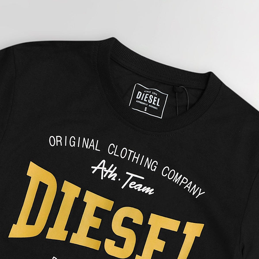 DIESEL-black high density logo graphic t-shirt (934)