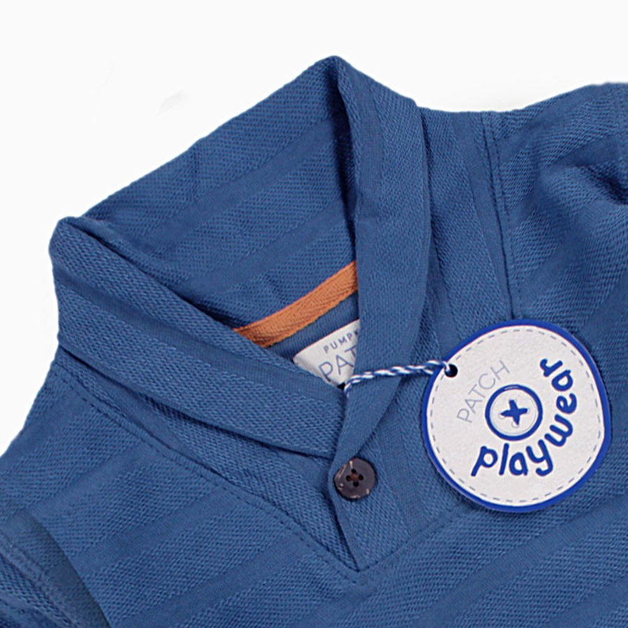 PUMPKIN PATCH-kids federal blue cowl neck sweat (422)
