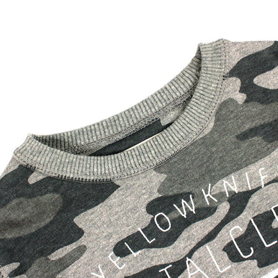 ZARA-boys yellow knife camouflage sweatshirt (425)