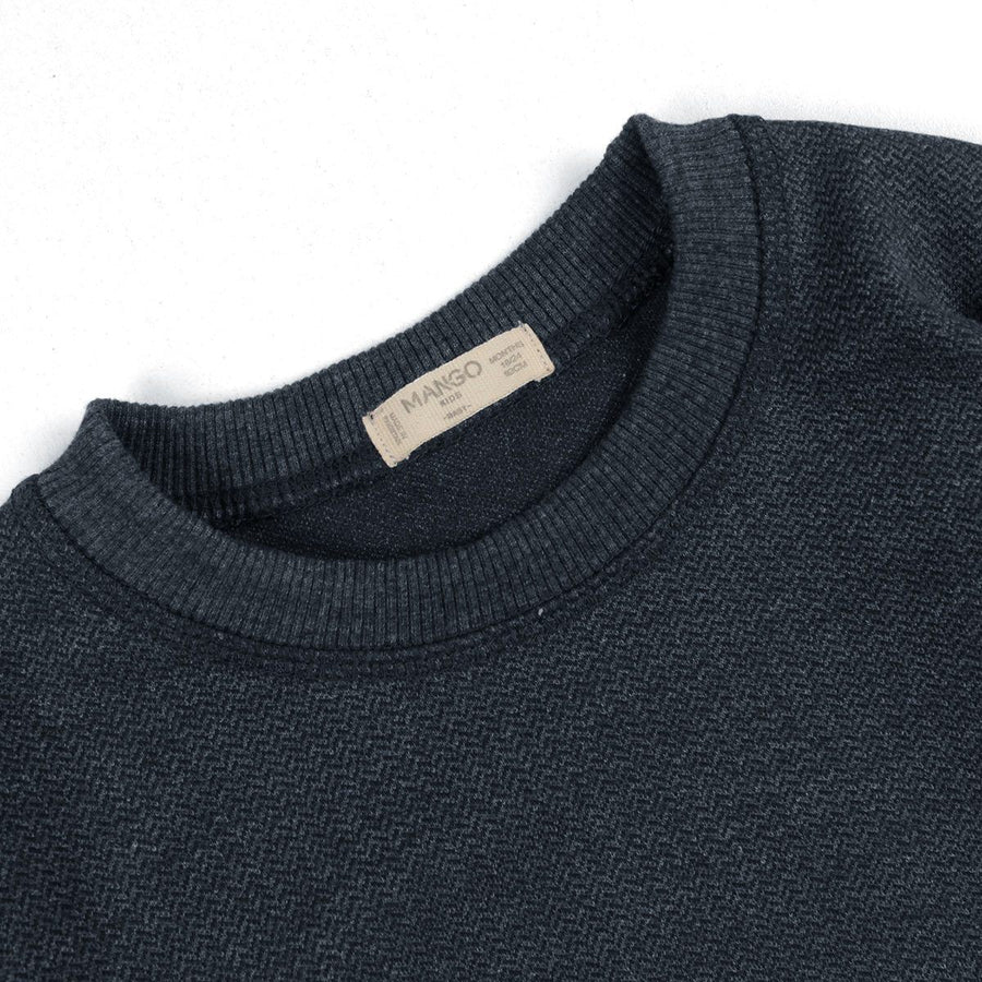 MANGO-boys navy textured sweatshirt (428)