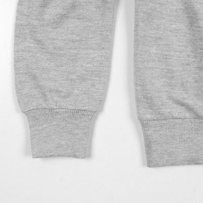 LEFTIES-grey bonjour amis terry sweatshirt