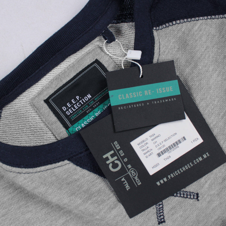 Grey raglan sleeve terry sweatshirt