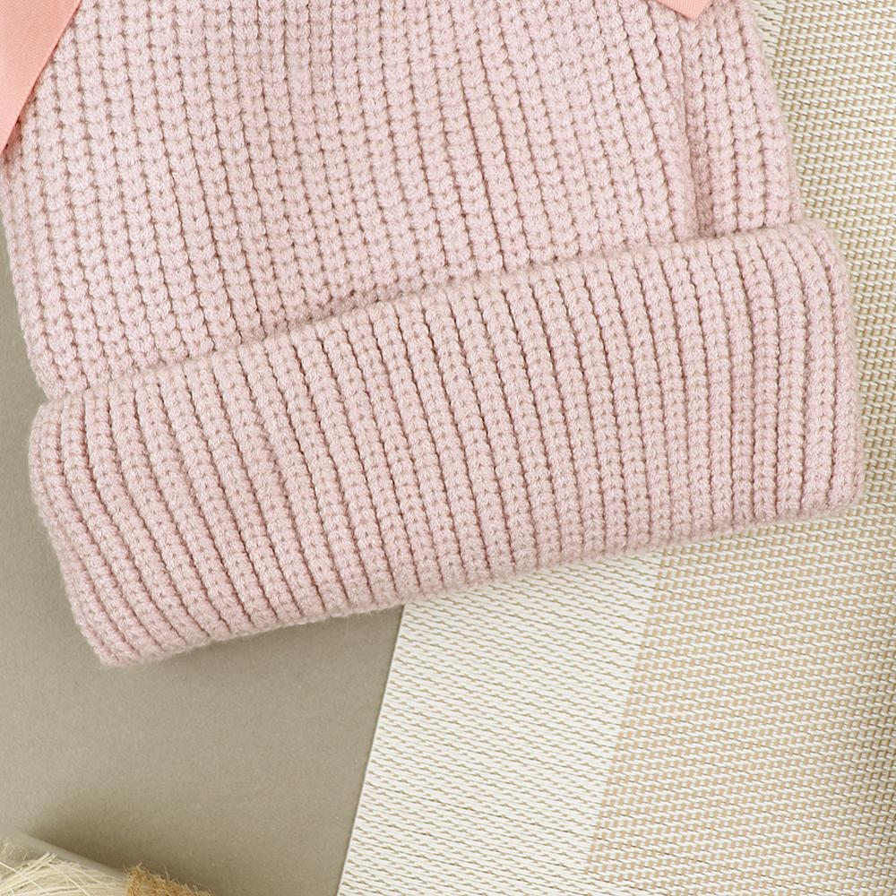 Lovely Winter Warm Soft Knitted Cute Fur Ball Wool Cap (40042)