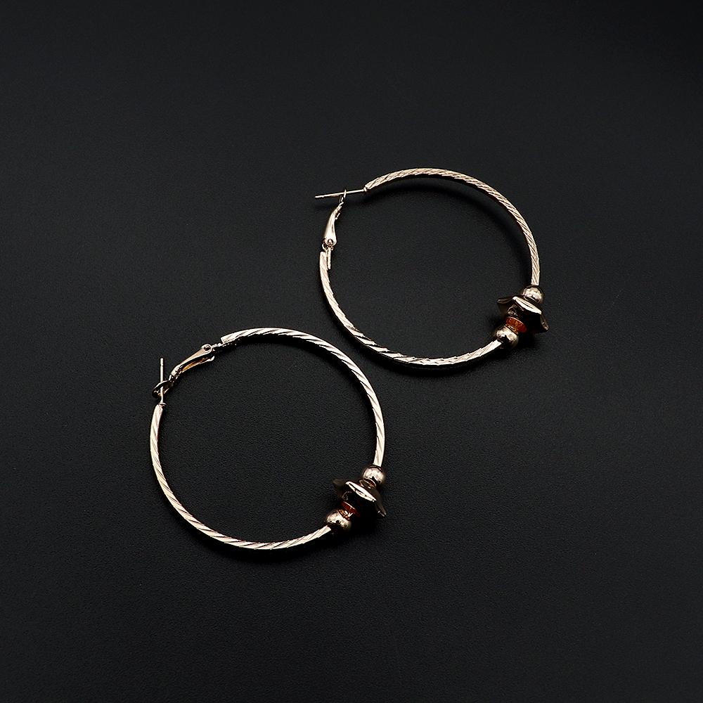 Fashion large golden circle hoop earrings (2362)