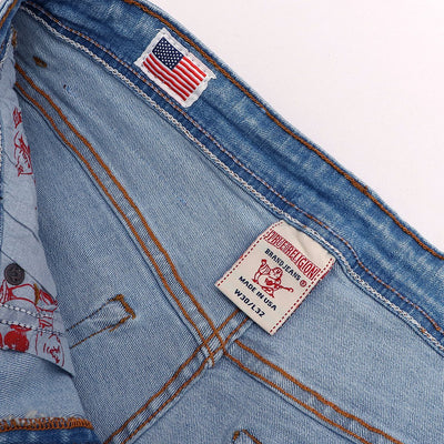 Exclusive light blue victor 'slim fit' stretch jeans