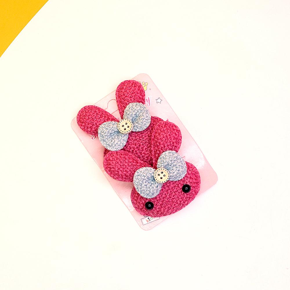 Pack of 2 Jute Style Kitty bow hair alligator pins