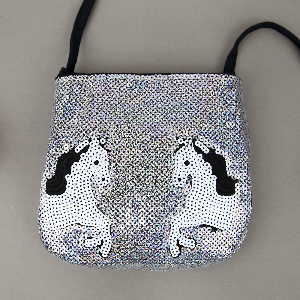 Imported Stylish Sequin Cross Body Cotton Bag For Girls