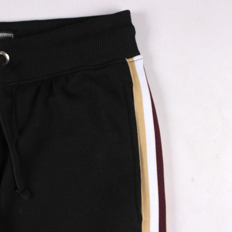 LEE COOPER-black side stripe 'slim fit' jogger trouser