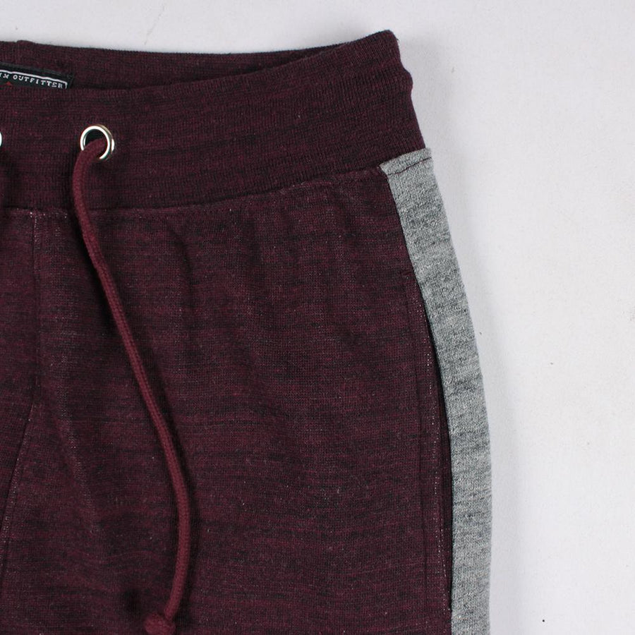 LEE COOPER-burgundy side panel 'slim fit' jogger trouser