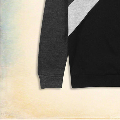 ZARA-charcoal 'muscle fit' sweatshirt with contrasting panels