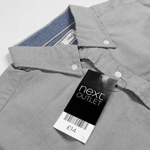 NEXT-plain oxford button down shirt
