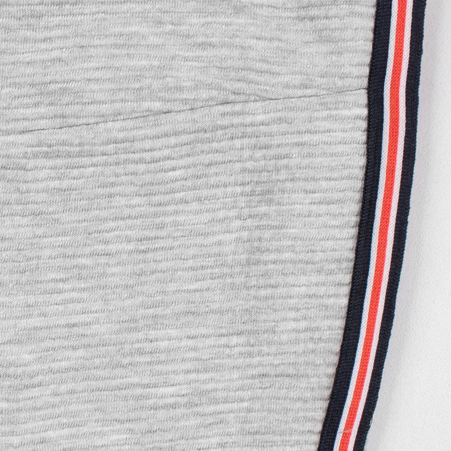 PULL&BEAR-boys grey marl striped tracksuit (597)
