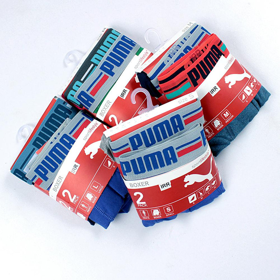 PUMA-pack of 2 cotton stretch boxer shorts