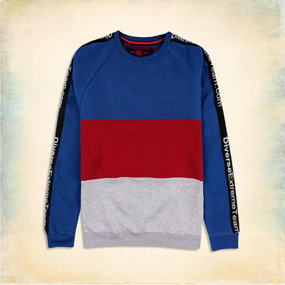 Extreme team panel sweatshirt with striped sleeve