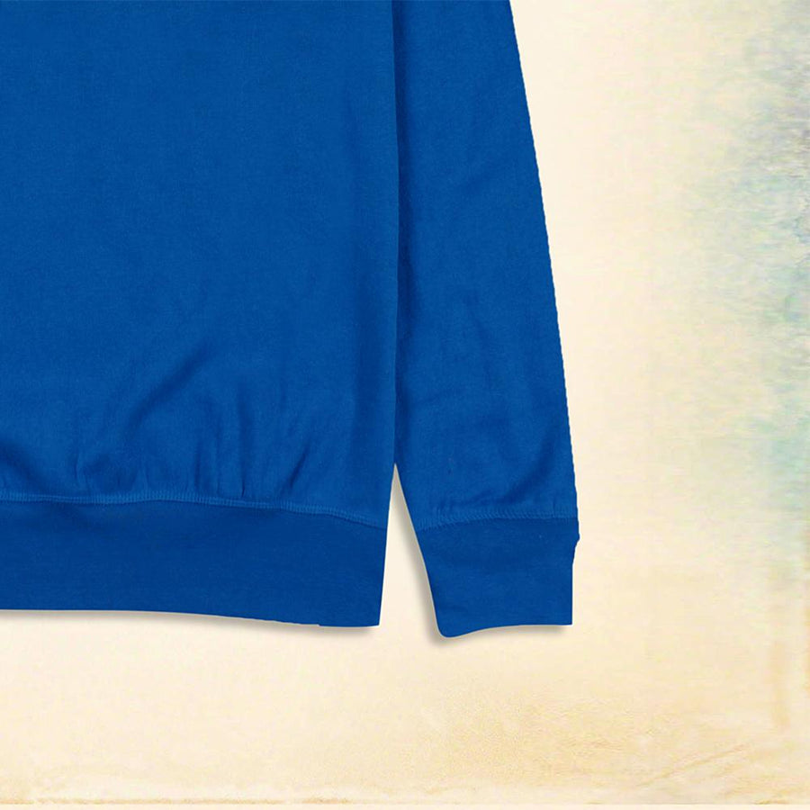 MTA SPORT-blue basic fleece sweatshirt
