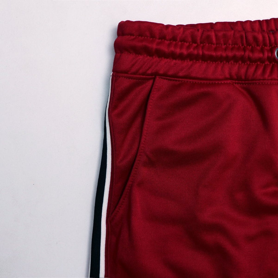 Pr mark red challenger side stripe running shorts (1003)