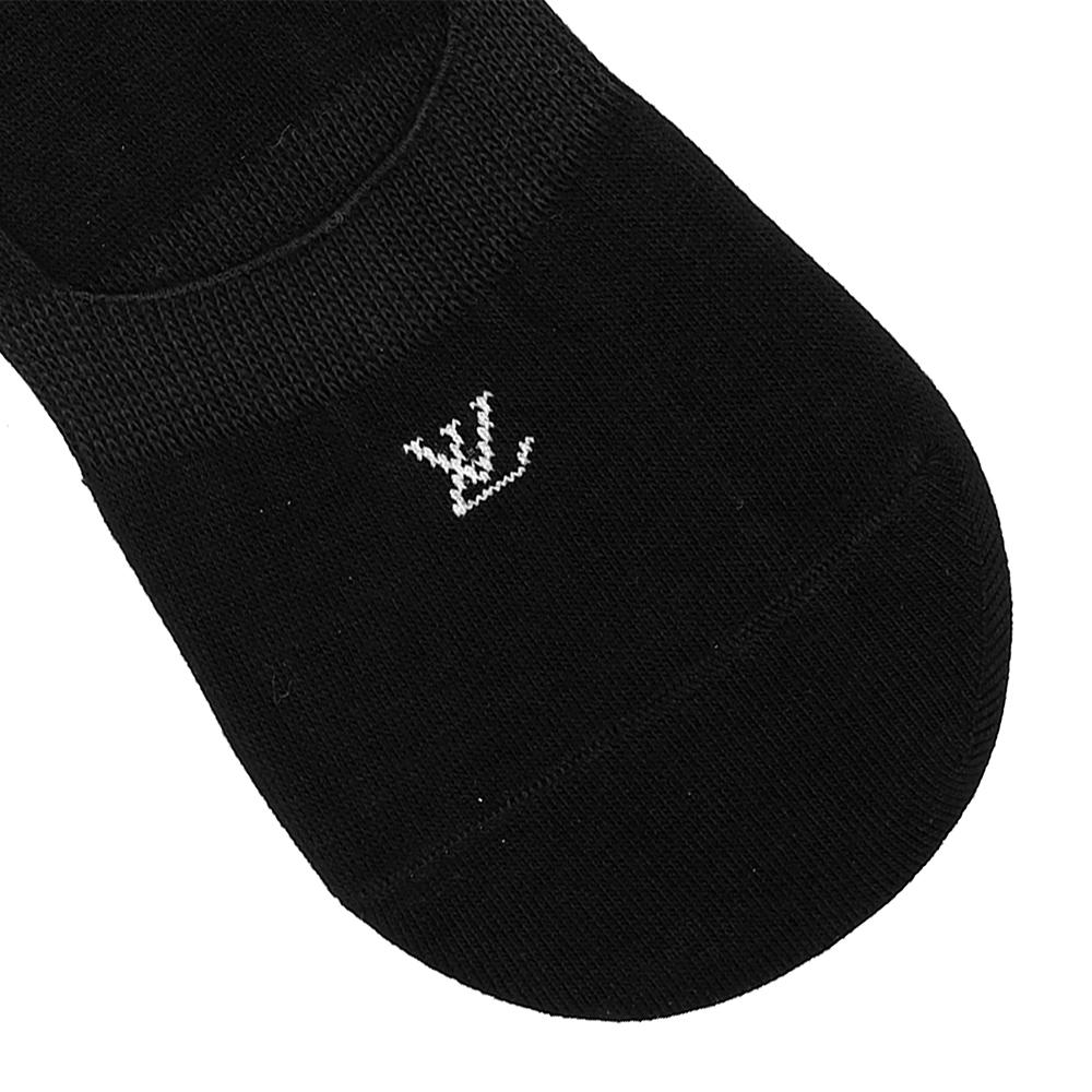 Monogram black no show socks (1401)