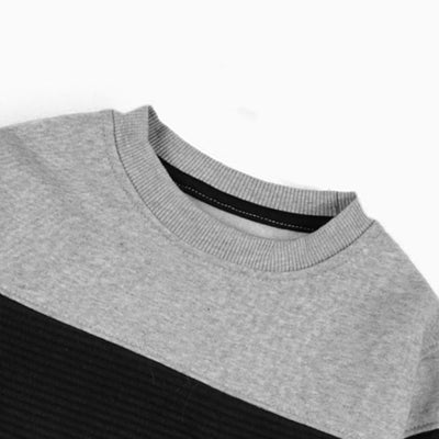 PULL&BEAR-boys color block quilted sweatshirt (653)