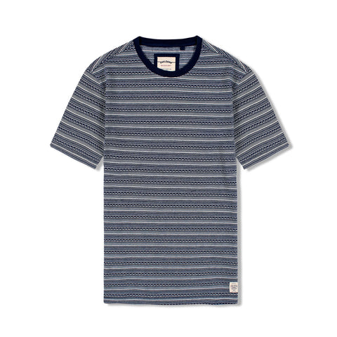 FAT FACE-stripe t-shirt with ribbed neckline